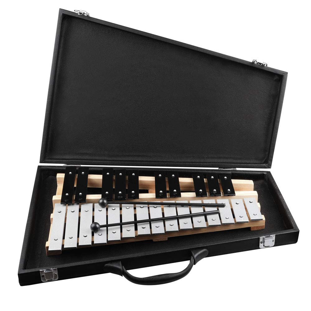 Mr.Power 25 Note Glockenspiel Percussion Instrument with Case