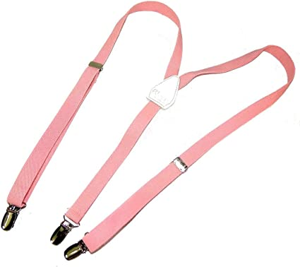 Hold-Up Urban Youth 3//4 wide Suspender in Y-back with No-slip Clips Pink