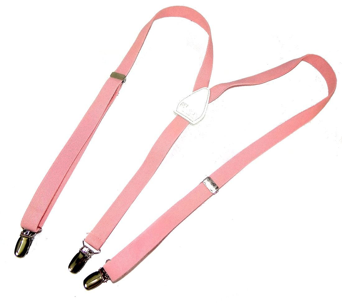 Hold-Ups Urban Youth 3/4'' wide Suspender in Y-back with No-slip Clips (Light Pink) by Hold-Up Suspender Co. (Image #1)