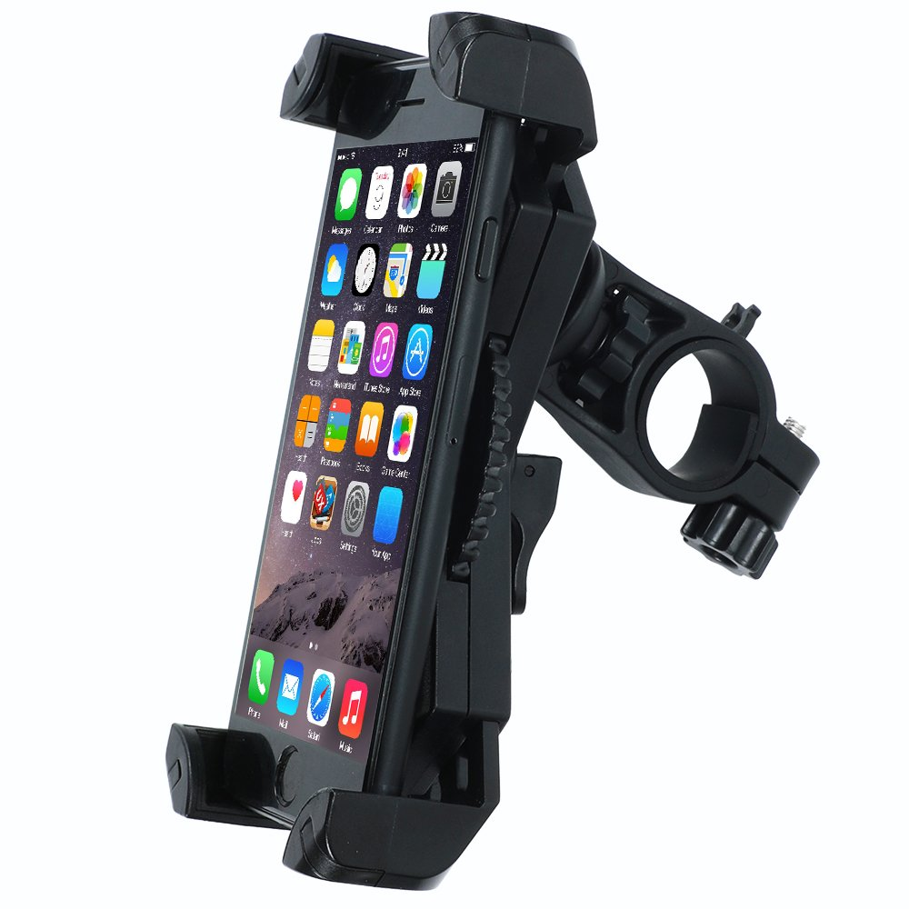Leepiya Bike Phone Mount Anti Shake and Stable Cradle Clamp with 360° Rotation Bicycle Phone mount/Bike Accessories/Bike Phone Holder for iPhone Android GPS Other Devices Between 3.5 to 6.5 inches