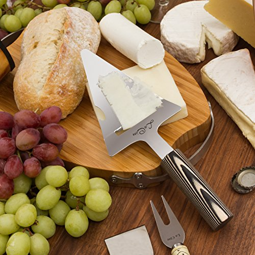 La Cote Stainless Steel Cheese Plane Slicer Knife With Pakka Wood Handle in Gift Box (Cheese Plane 10 Inch)
