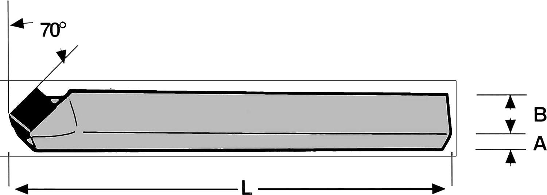 ISO-1 Gerade Drehmeißel R 12x12 mm P20 DIN-4971