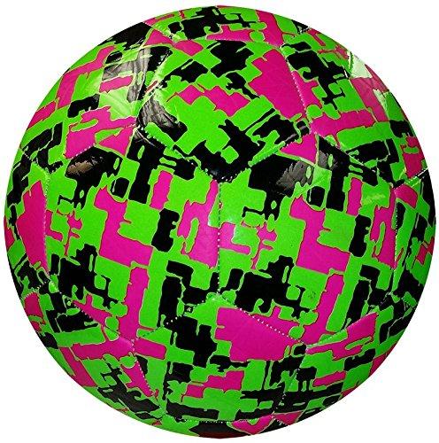 American Challenge Camo Hex Soccer Ball (Kiwi/Raspberry/Black, 5)
