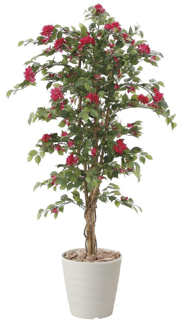 造花 観葉植物 「ブーゲンビリア 150cm」 光触媒(空気清浄) インテリアグリーン 鉢植え B0796V8XKL