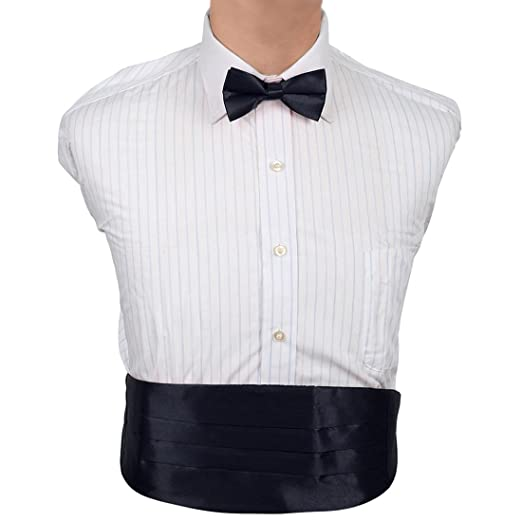 cf90b60d5b33 Amazon.com: Dan Smith DIC1E01E Blue Plain Microfiber Wedding Cummerbund Set  Fantastic Cummerbund Matching Bow Tie: Clothing