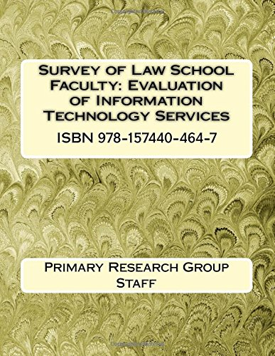Survey of Law School Faculty: Evaluation of Information Technology Services