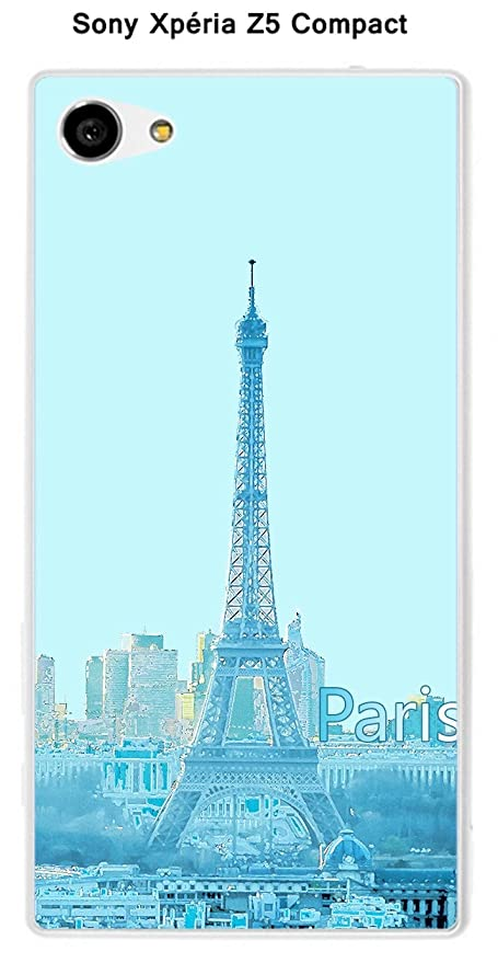 Onozo Carcasa Sony Xperia Z5 Compact Design Paris azul con ...