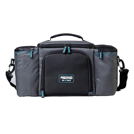 Prozis Befit Bag 2.0 Bolsa Organizadora de Alimentos con Compartimento de Almacenamiento Aislado, 3 Recipientes y 2 Sacos de Hielo, Tela, Gris, 22.5 x ...