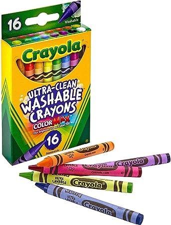 Amazon.com: Crayola Ultra Clean 526916 - Ceras lavables ...