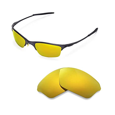 adc88f422f253 Walleva Replacement Lenses for Oakley Half Wire XL Sunglasses - Multiple  Options Available (24K Gold