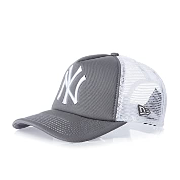 New Era Adjustable Mlb Clean New York Yankees Trucker Cap - Storm  Grey white  Amazon.co.uk  Sports   Outdoors 92d7cbc20b