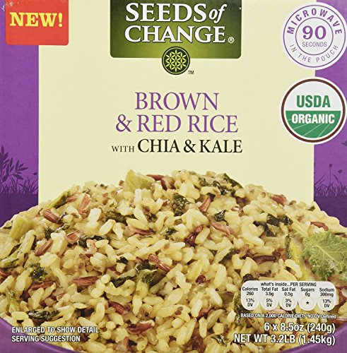 Seeds of Change Variety Pack 3 Quinoa and Brown Rice + 3 Brown & Red Rice w/Chia & Kale (Total 6 X 8.5oz)