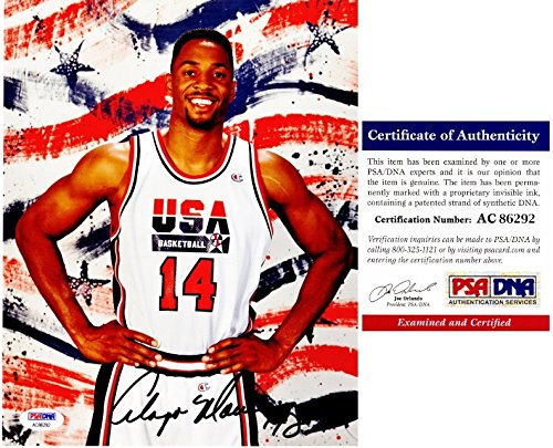Alonzo Mourning Signed - Autographed 1996 USA Dream Team II 8x10 inch Photo - 2006 NBA Championship with Miami Heat - PSA/DNA Certificate of Authenticity (COA)