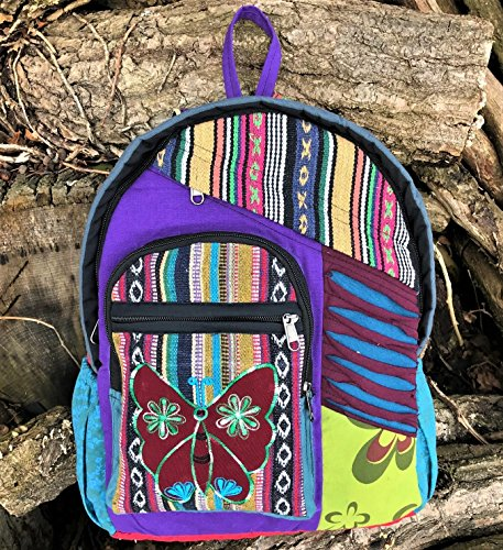60's Backpack Butterfly Beach Hippy Indie Festival Peace Rucksack Boho Bag Hippie Retro PwtdZdq