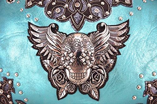 Pu Elegante Donne eagle Letto Biancheria Wing Delle Turchese Da Blancho In Combo turchese Di Pelle Borsa Modo wBPqxwz
