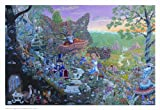 Alice in Wonderland by Tom Masse 32-by-22-Inch Art Print Poster