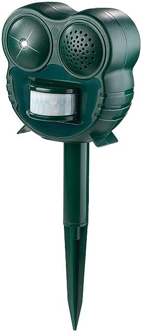 Royal Gardineer - Ahuyentador de gato: Ahuyentador de animales por ultrasonido (con lámpara LED y detector de movimiento PIR, 70 m² (pájaro Ahuyentador): ...
