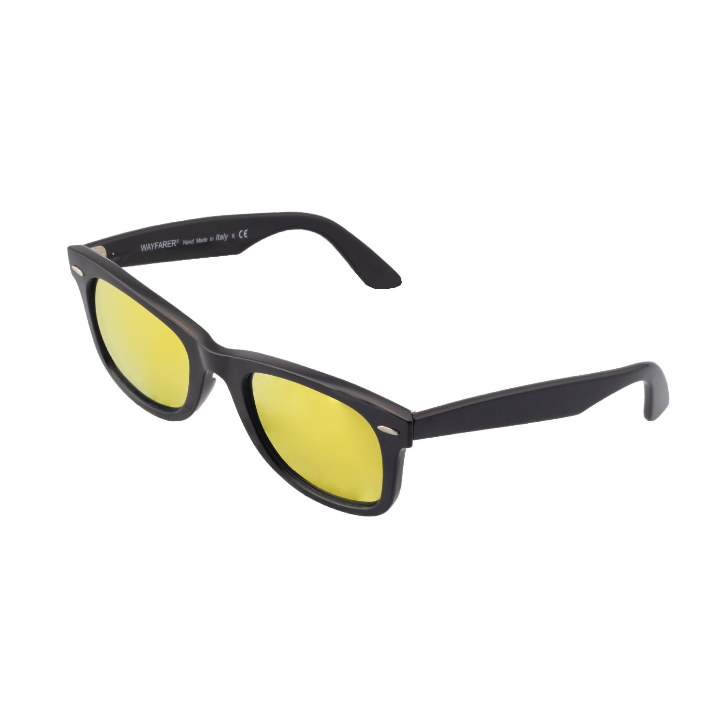 0ec4618af48 Amazon.com  Walleva Replacement Lenses for Ray-Ban Wayfarer RB2140 50mm- 5  Options (24K Gold - Polarized)  Clothing