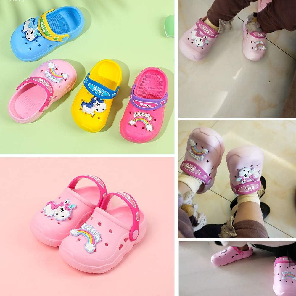 Kids Unicorn Clogs Girls Boys Slides Sandals Lightweight Garden Shoes Slip on Water Shoe for Toddler Little Kids Summer Beach Pool Slippers