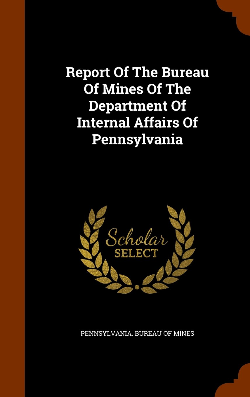 Download Report Of The Bureau Of Mines Of The Department Of Internal Affairs Of Pennsylvania pdf