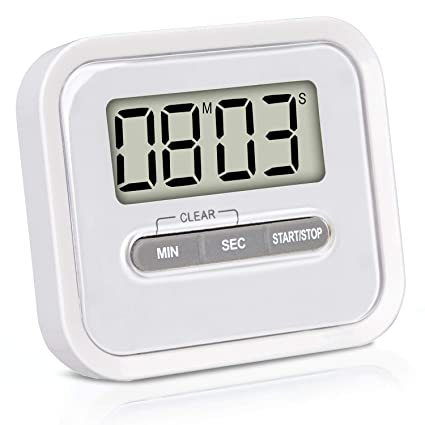 8835986b737cc7 VARA Timer da Cucina Digitale con Supporto Magnetico e cronometro,  Contaminuti Digitale: Amazon.it: Casa e cucina