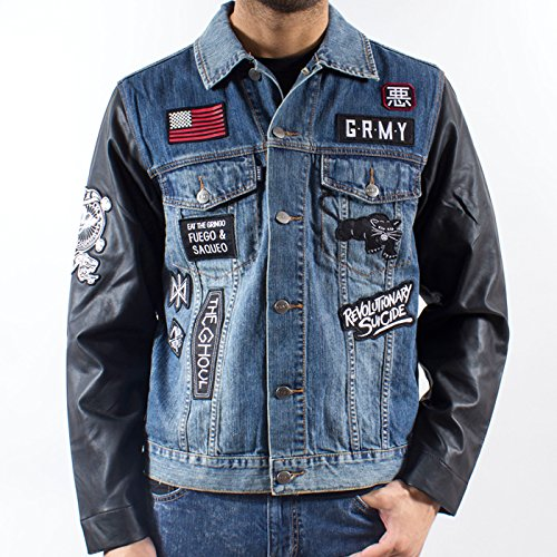 Grimey Chaqueta Vaquera The Antagonist FW14 Blue Washed XS ...