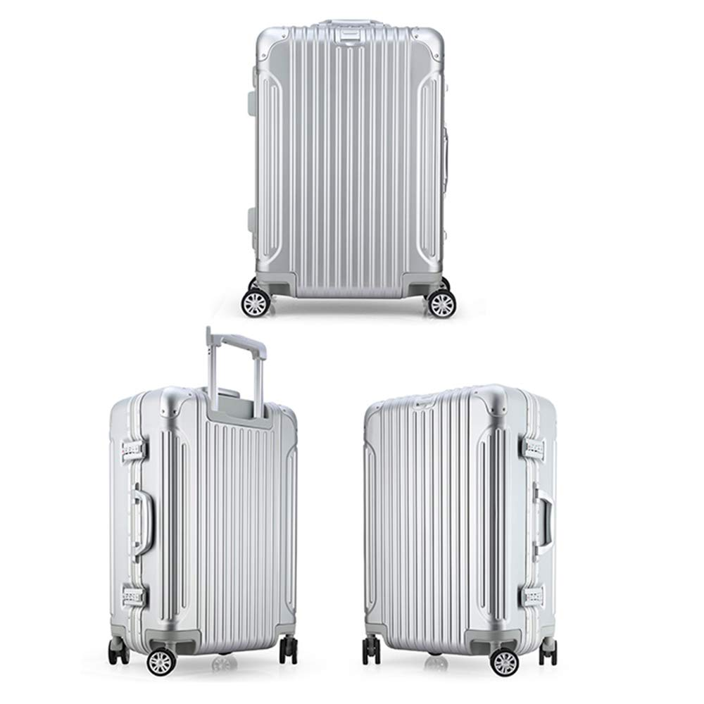 Anti-theft Code Lock MING REN Luggage Sets Tie-rod Box-aluminum Frame Mute Universal Wheel 4 Colors And Explosion-proof Lock Suitable For Travel And Short-distance Business Trip Metal Wrap Angle