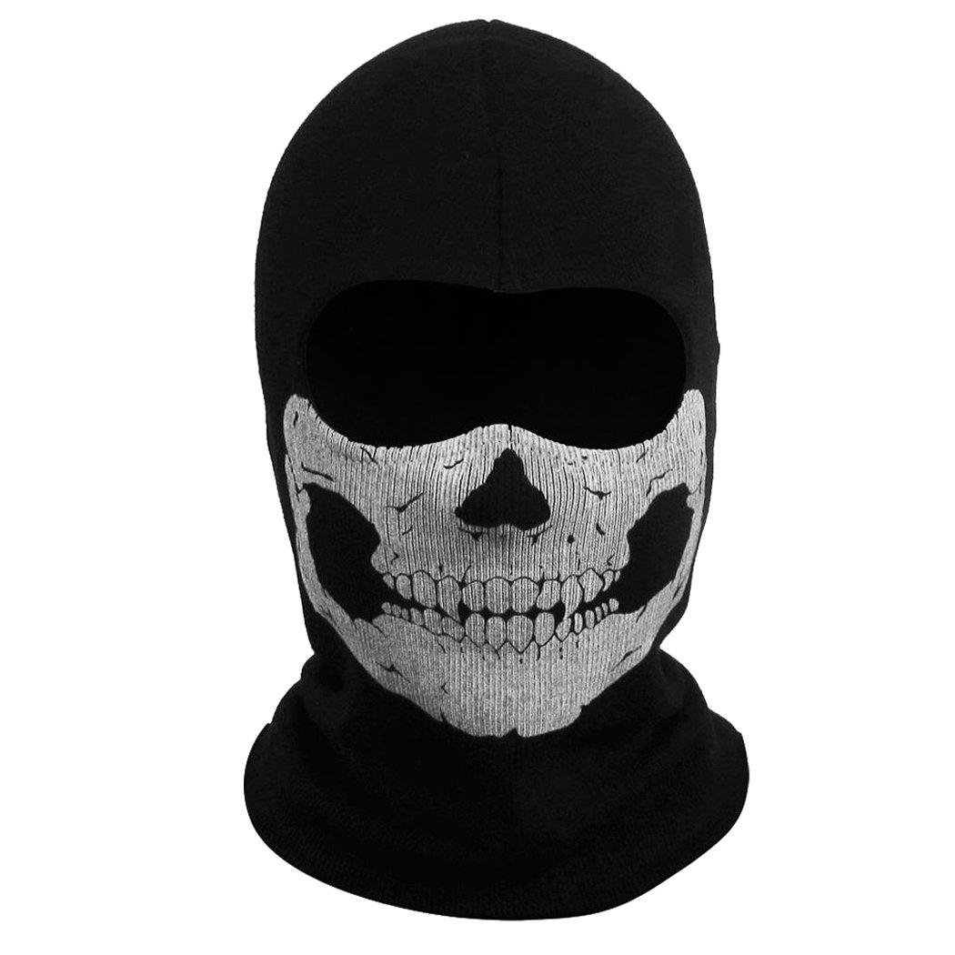 Call of Duty 10 : Ghosts Skull Mask Balaclava Hood (B07): Amazon ...