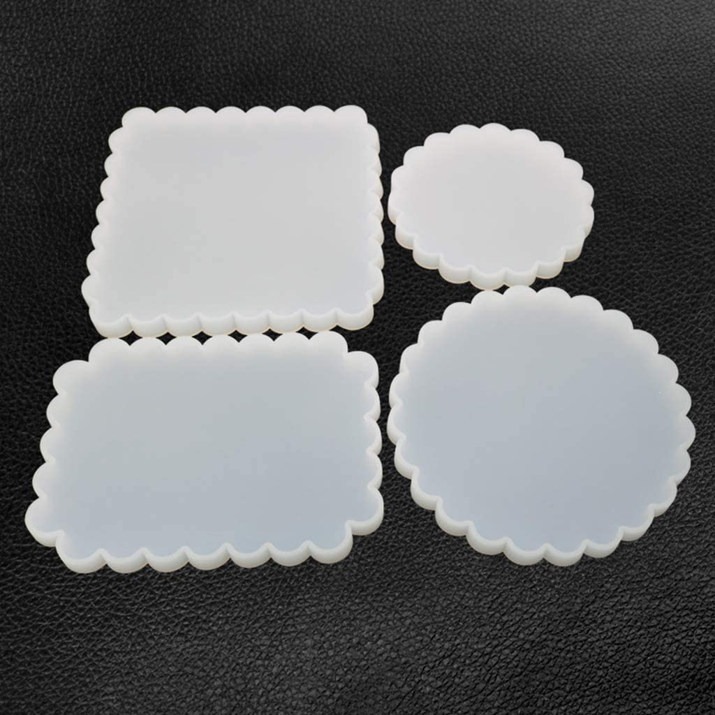 LAOJIA Silicone Resin Casting Mould Coaster Mold DIY Crafts Round Square Cup Pad Making Resin Epoxy Molds