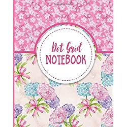 Dot Grid Notebook: Bullet Grid Journal Planner, Dotted Line Journal - Hydrangea Flower Cover (Volume 29)