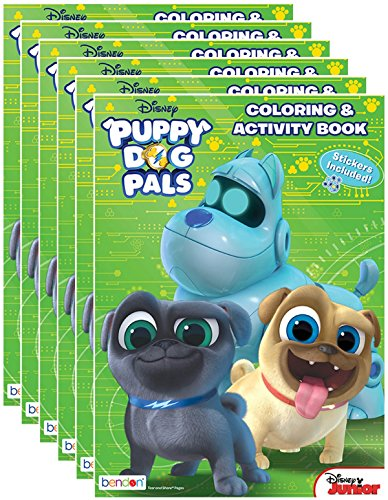Disney Junior's Puppy Dog Pals Coloring and Activity Book with Stickers (Pack of 6) by Bendon