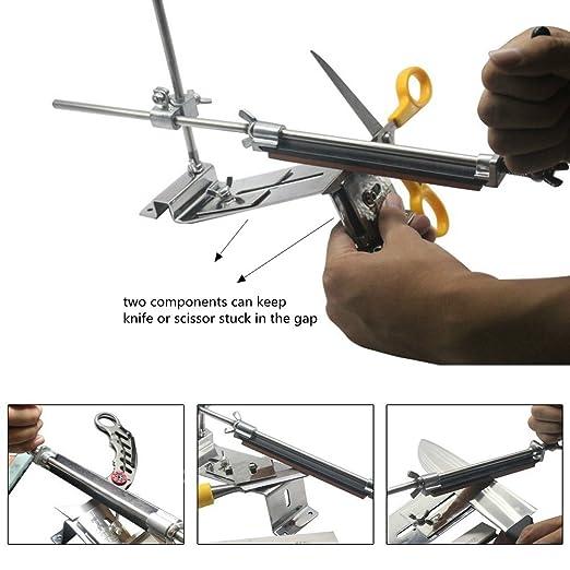 Elegant HiCollie Profi Messerschärfer Küche Knife Messerschleifer Fixed Winkel  Sharpener Mit 4 Schleifsteinen: Amazon.de