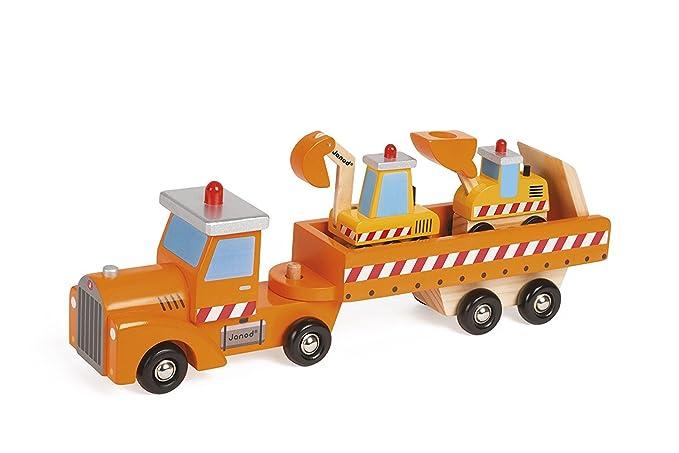 Juguete de madera para niños excavadora de coches.: Amazon ...