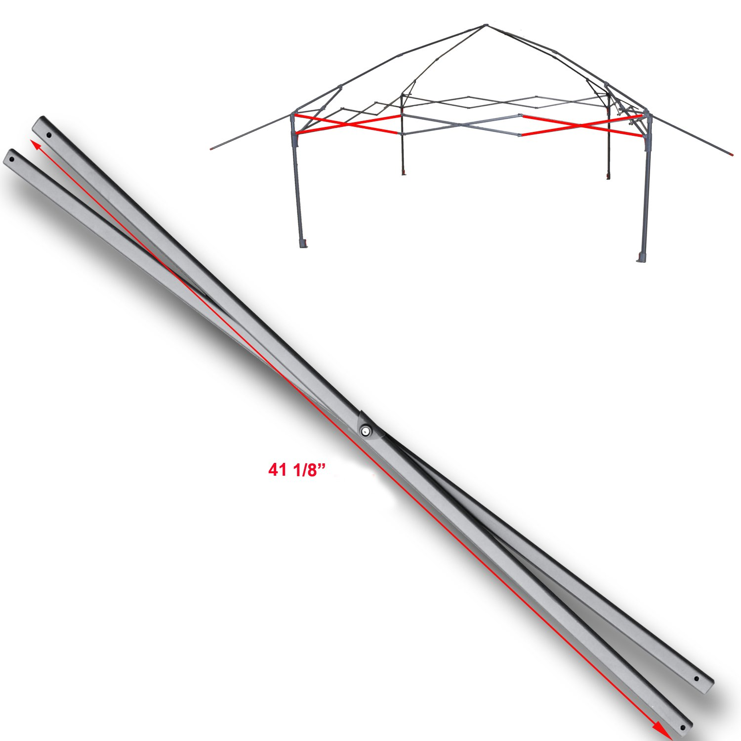 for Coleman 13 x 13 Instant Eaved Shelter Canopy Costco SIDE TRUSS Bar Replacement Parts 41 1/8""