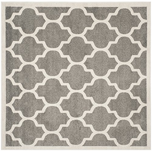 Safavieh Amherst Collection AMT420R Dark Grey And Beige Indoor/ Outdoor  Square Area Rug (5u0027 Square)