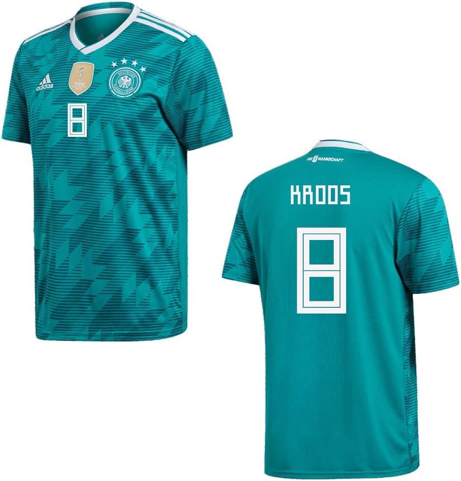 Camiseta Adidas Kroos 8, de la federación de fútbol alemán DFB, para hombre, diseño de la selección alemana, del mundial 2018, extra-large: Amazon.es: Deportes y aire libre