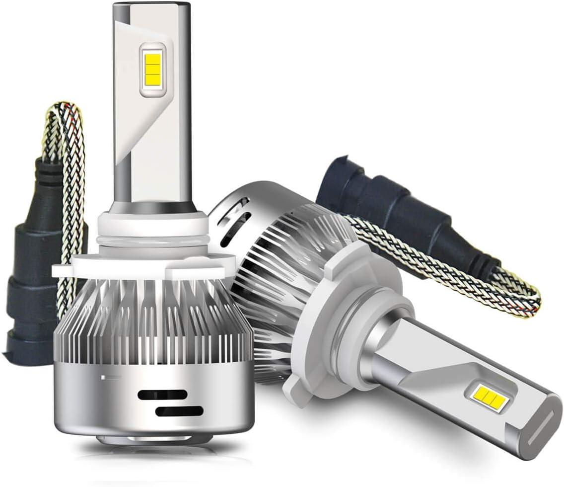 Plug /& Play LASFIT 9005 HB3 LED Headlight Bulbs 6000K Cool White 60W 6000LM LED Headlight Conversion Kits for High Beam Pack of 2