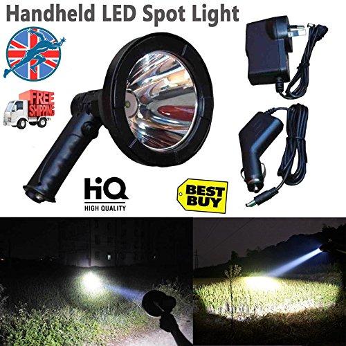 T6LED Lampes de camping randonnée Chasse travail Handheld spot Lampes de prise de vue batterie avec batterie intégrée 12V Portable Super Power Light