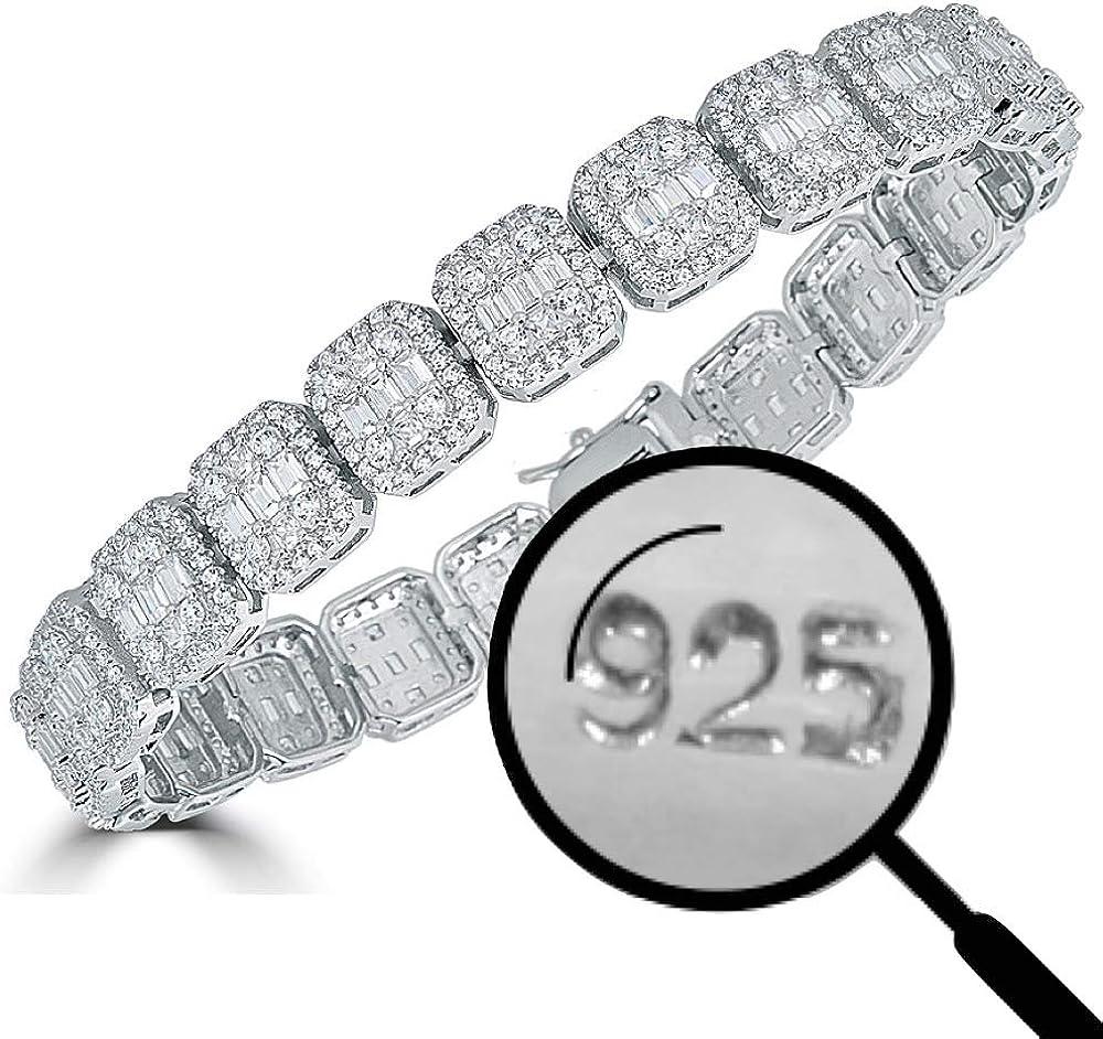 Sterling Silver Baguette Tennis Bracelet