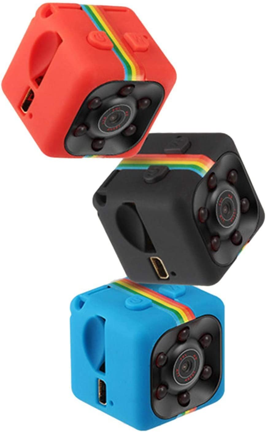 GEESENSS Voiture HD Mini Cam/éra 360 Degr/és Enregistrement Vid/éo Support TF Cam/éras embarqu/ées
