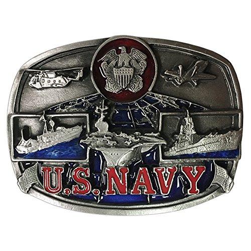 Bergamot Brand U.S. Navy Men's Belt Buckle - U132PE by Bergamot
