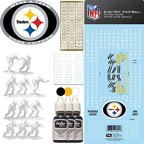 Tudor Games NFL Pittsburgh Steelers NFL Home Uniform Make-A-Team Kit for Electric Football