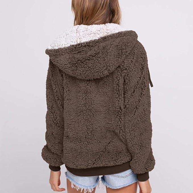 Amazon.com: IanWio Women Plus Size Casual Pocket Hooded ...