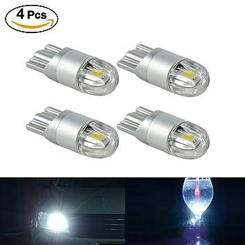 SUPAREE 4X Blanco Bombilla LED T10 3030 2SMD W5W luz Lateral, lámpara de la Placa de matrícula de Coche: Amazon.es: Coche y moto