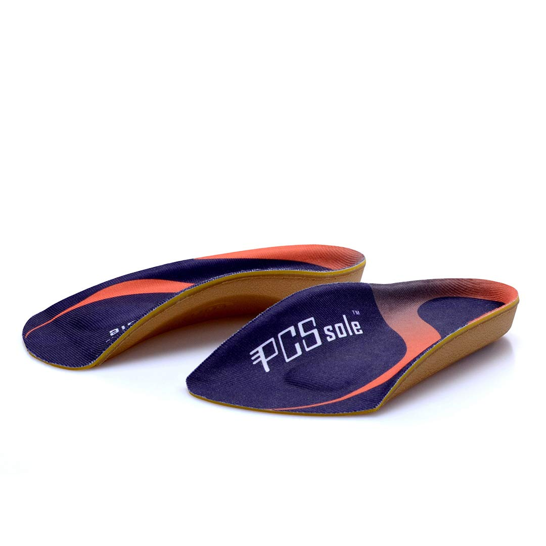 PCSsole 3/4 Length Comfort Orthotic Inserts for Flat Feet,Plantar Fasciitis, Bone Spur,Arch Support for Men and Women-Walking, Running,Sport (L:(Men9-11/Women10-12)) by PCSsole