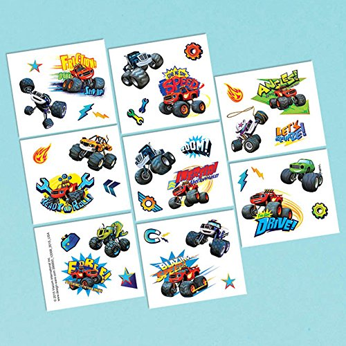 Blaze and the Monster Machines Tattoos 8 Tattoo squares (Truck Monster Treat)