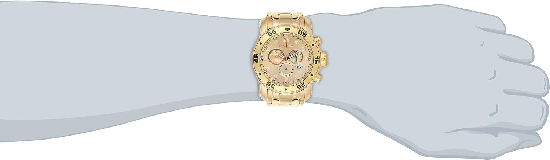 Invicta Men s 80071 Pro Diver Analog Display Swiss Quartz Gold Watch