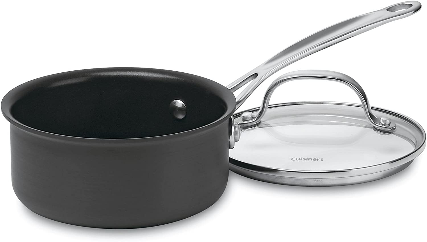 Cuisinart 619-14 Chef's Classic Nonstick Hard-Anodized 1-Quart Saucepan with Cover: Cooking Pots: Kitchen & Dining