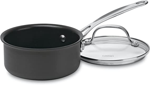 Chef's Classic Nonstick Hard-Anodized 1-Quart Saucepan with Cover