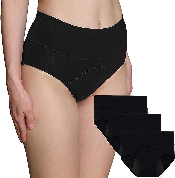 Pack de 3 bragas de algodón para mujer de la marca INNERSY, para el período menstrual, a prueba de fugas, para usar con tampones: Amazon.es: Ropa y accesorios